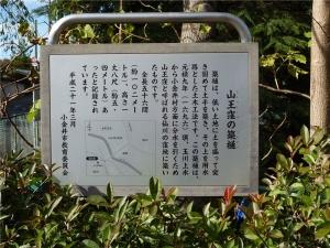 山王窪の築樋