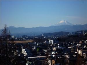 展望広場から見た富士山
