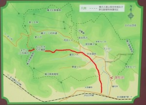 富田の入~石山の池 マップ